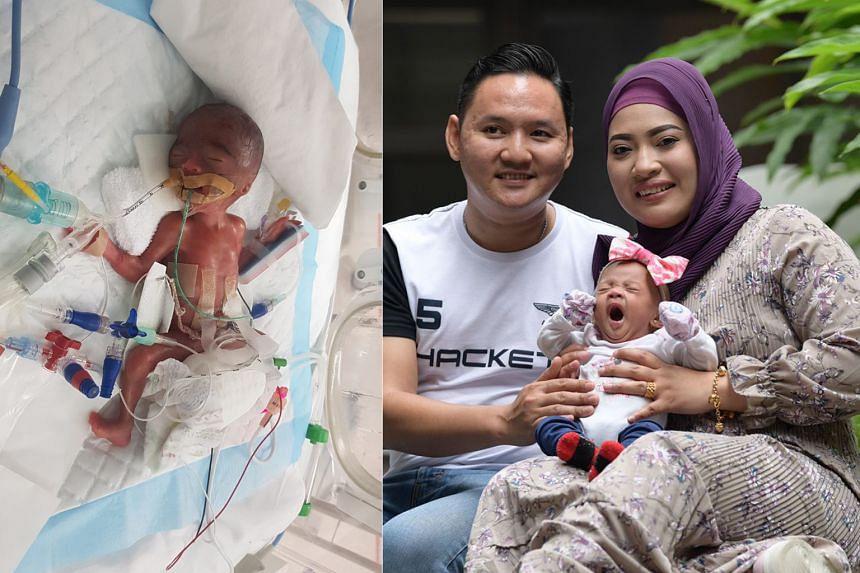 Nur Zaiya Naziha Muhammad Saufi was born after 23 weeks and six days to Madam Rohani Mustani and Mr Muhammad Saufi Yusoff.