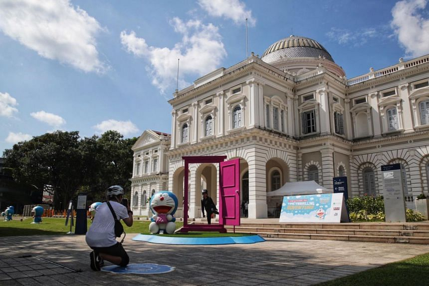 The exhibition, Doraemon's Time-Travelling Adventures In Singapore, has been in the making for a year and a half.
