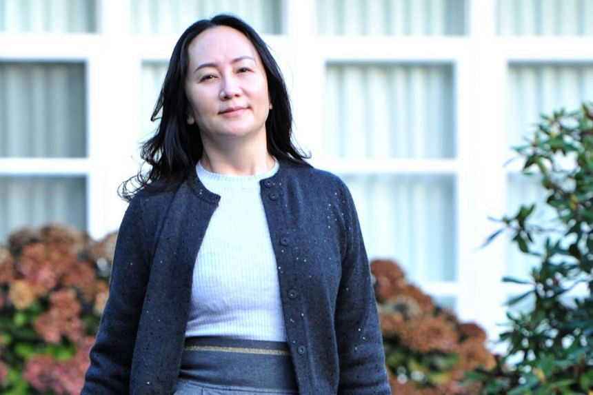 Huawei Chief Financial Officer Meng Wanzhou leaves her Vancouver home to appear in British Columbia Supreme Court on Oct 26, 2020.