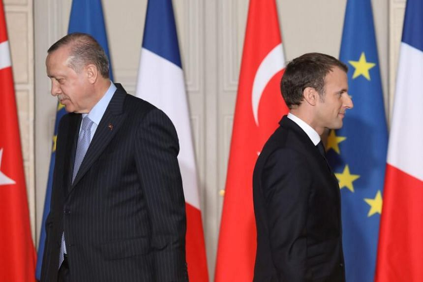 Erdogan, who has a history of fraught relations with Macron, said France was pursuing an anti-Islam agenda.