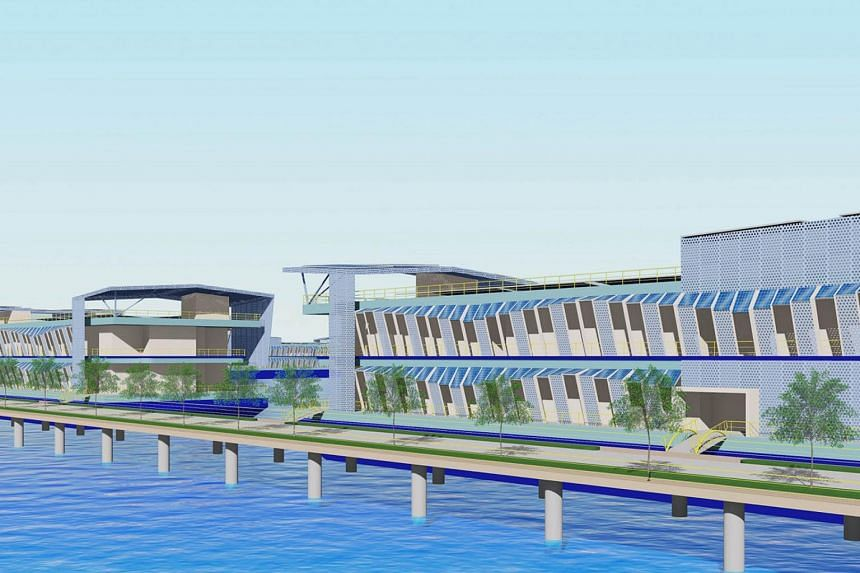 An artist's impression of a floating data centre park.