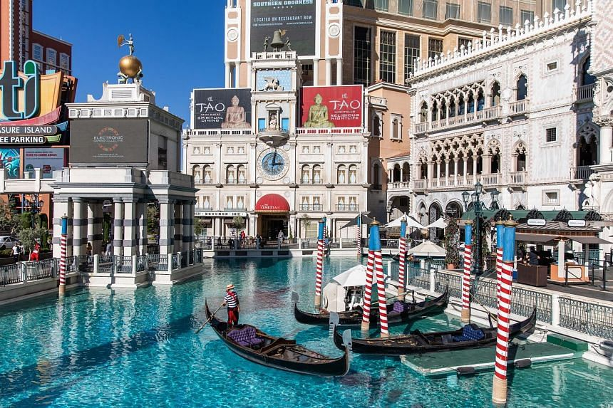 Las Vegas Sands, the world's largest casino company, is working with an adviser to solicit interest for the Venetian Resort Las Vegas (above), the Palazzo and the Sands Expo Convention Centre, which together may fetch US$6 billion (S$8.2 billion) or