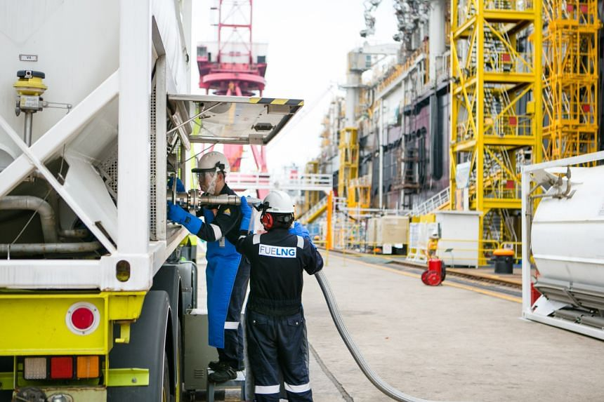 Currently, Singapore's two LNG bunker suppliers are Pavilion Energy Singapore and FueLNG.