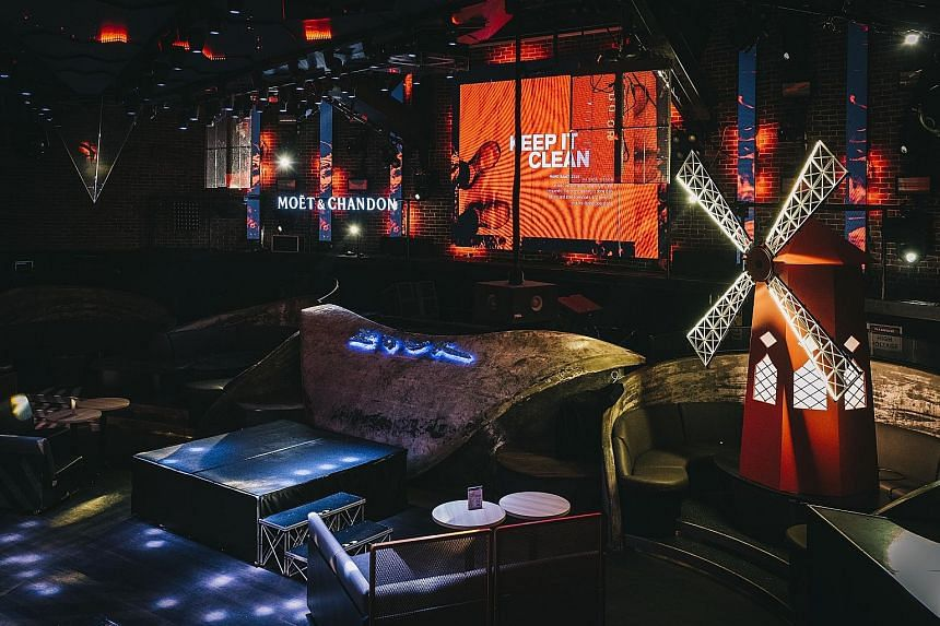 In line with the opening theme For The Love Of Music, musical movies such as Moulin Rouge (2001) will be screened next month, with Zouk's main room (above) decorated with Parisian touches such as the famous Red Mill of the Moulin Rouge cabaret.