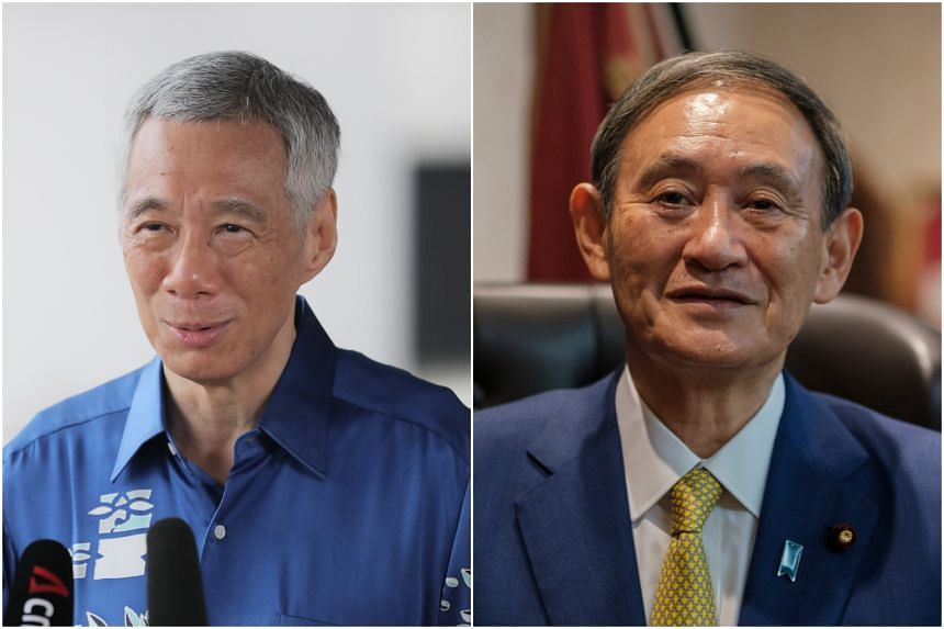 PM Lee said he looked forward to working with Mr Suga to deepen cooperation between Japan and Singapore.