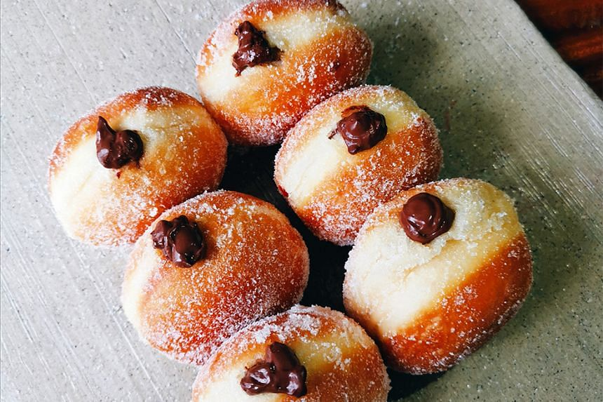 Chocolate doughnuts from Burnt Ends Bakery.