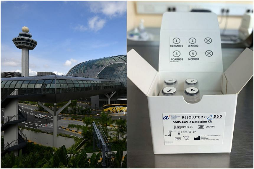 The lab at Changi Airport will use the Resolute 2.0 polymerase chain reaction test kit.