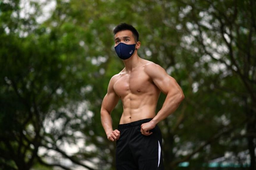 Fitness trainer Samuel Tan tries out the Asics Runners Face Cover.