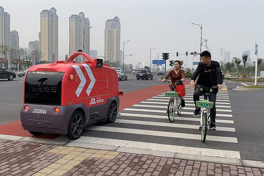 JD Logistics plans to roll out 100 autonomous delivery vehicles in Changshu, Jiangsu province, before the end of this year. The technology was given a boost after Chinese President Xi Jinping mentioned such deliveries as an emerging industry for whic