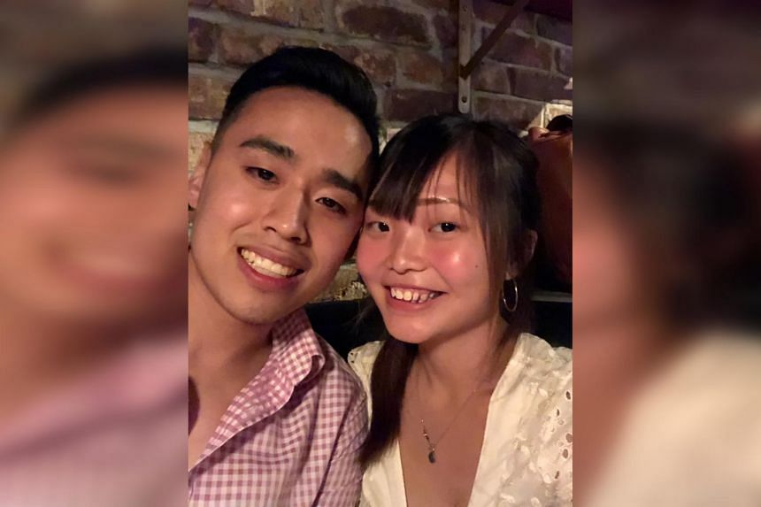 Ms Priscillia Lau with her American partner Cory Loo in New York, in June 2019.