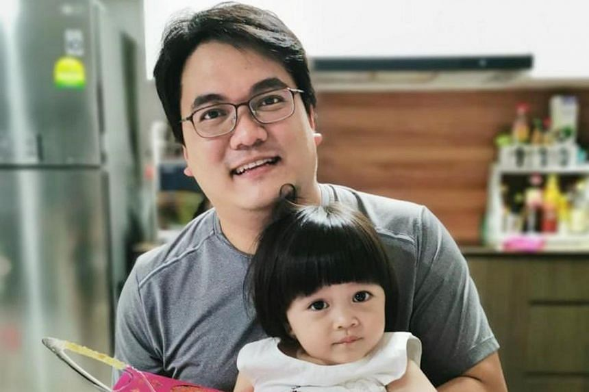 Mr Gregory Chua with his daughter Erica.