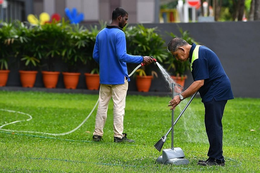 The progressive wage model, introduced in 2012, is a sectoral minimum wage scheme tied to productivity improvements and has been implemented in the cleaning, security and landscape businesses. It now covers 80,000 workers or 15 per cent of those at t