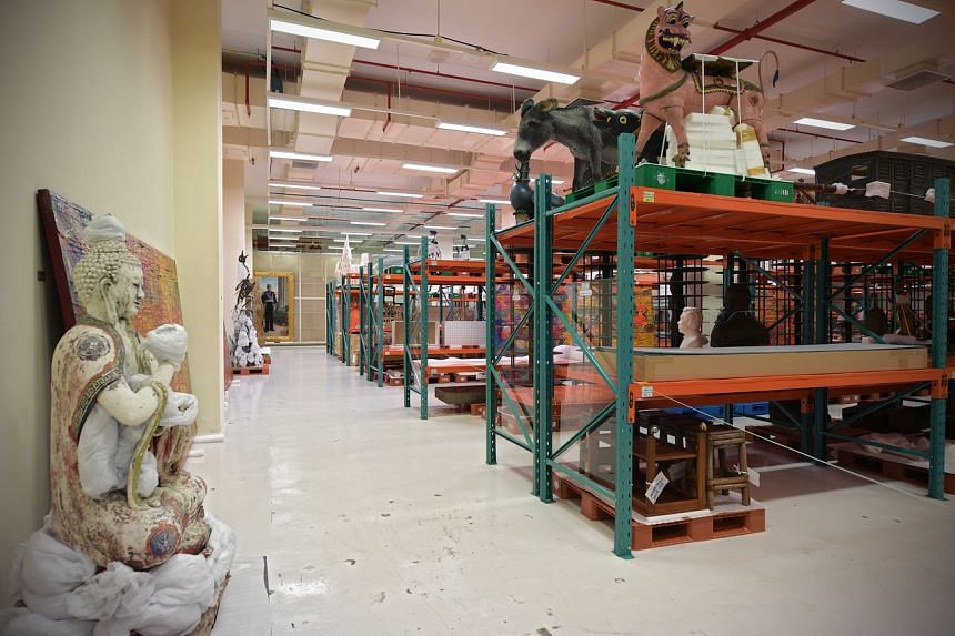 The Heritage Conservation Centre 's main storage room which houses artefacts from Singapore's National Collection.