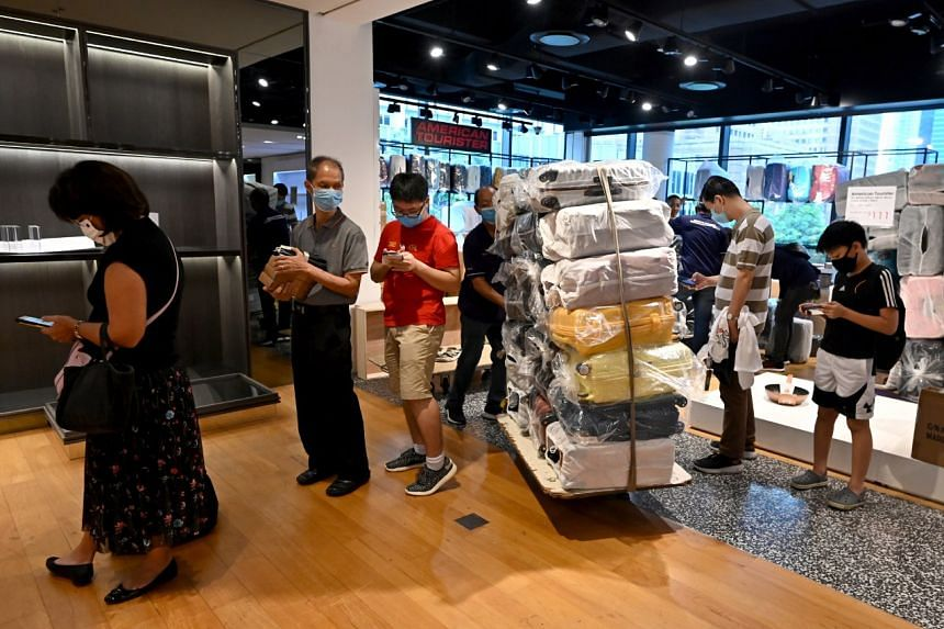 Shoppers at Robinsons' Heeren outlet on Oct 31, 2020.