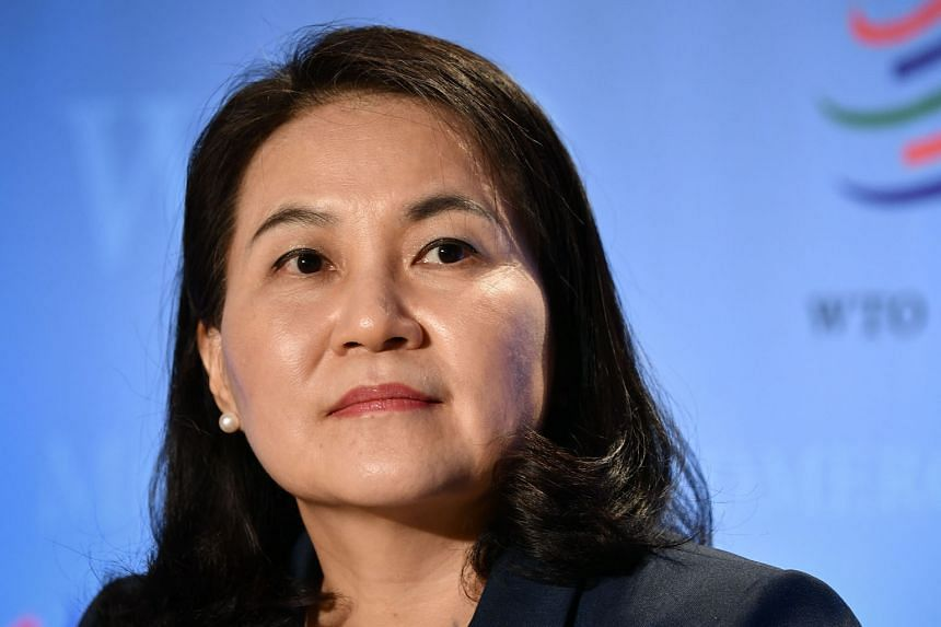 CANDIDATE #2: MS YOO MYUNG-HEE South Korea's trade minister is backed by the US. It is unclear whether the US will change its stance if Democrat candidate Joe Biden wins the Nov 3 election.