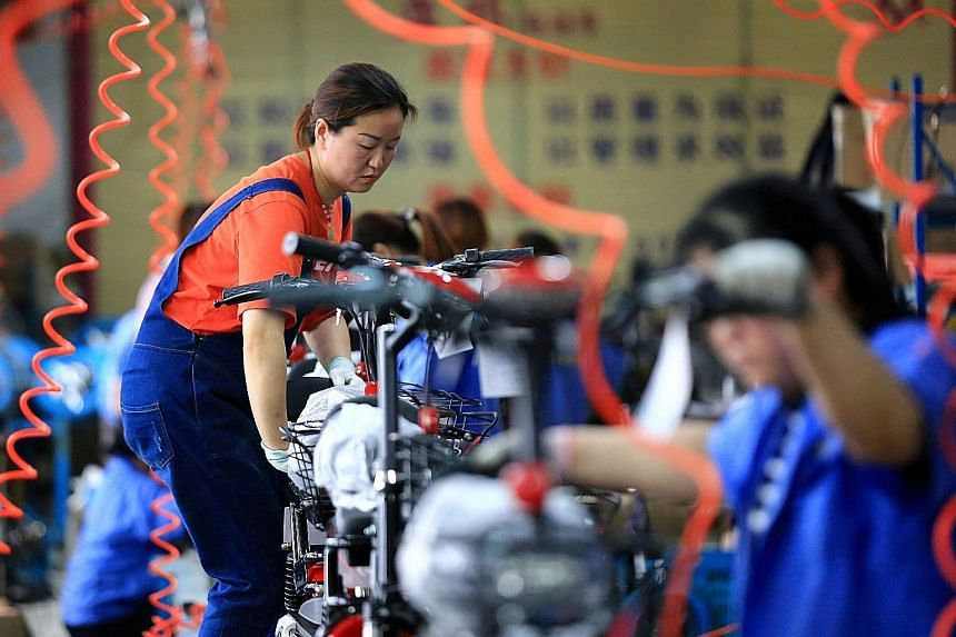 China's industrial sector is steadily returning to the levels seen before Covid-19 paralysed huge swathes of the economy. PHOTO: REUTERS
