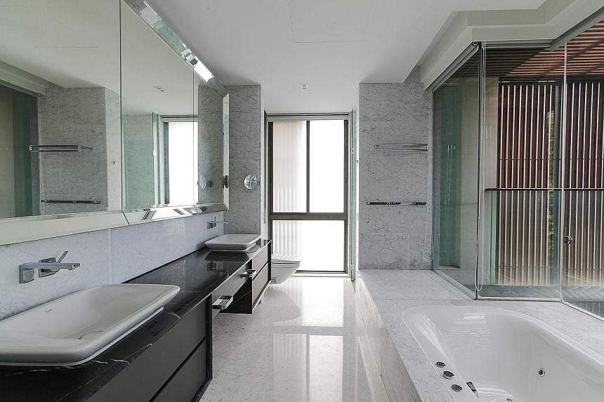 The bathroom of the master bedroom, which also boasts a huge walk-in wardrobe.