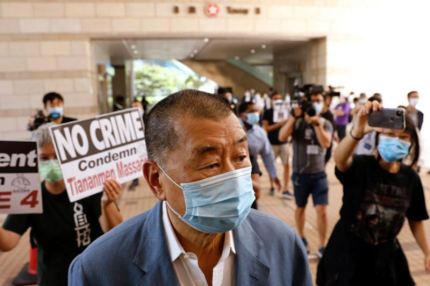 Jimmy Lai said he fears authorities are trying to shut down a critical voice in the restless city.