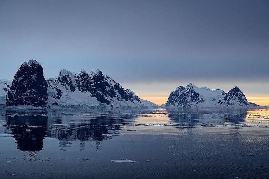 At 11pm, the sunset over the Gerlache Strait during the austral summer is twilight at its best. As the Antarctic Peninsula warms at a faster rate than the rest of the continent, this landscape could see dramatic change as the sea level rises. Sea ice