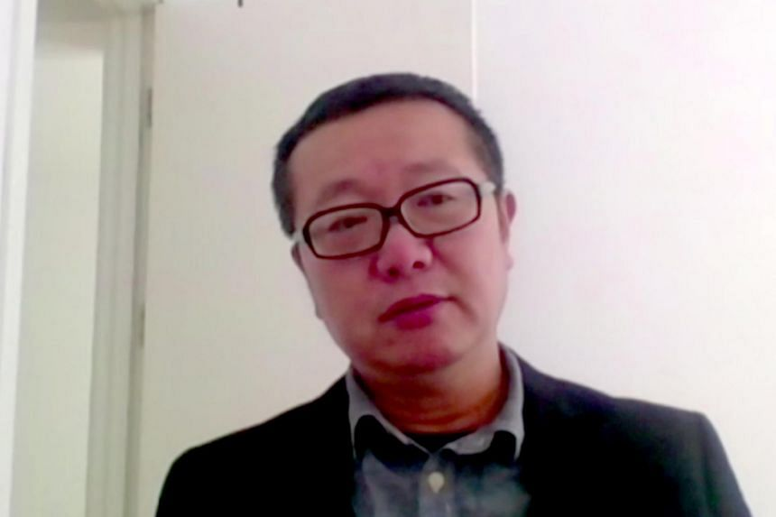Author Liu Cixin in a virtual dialogue at the Singapore Writers Festival.