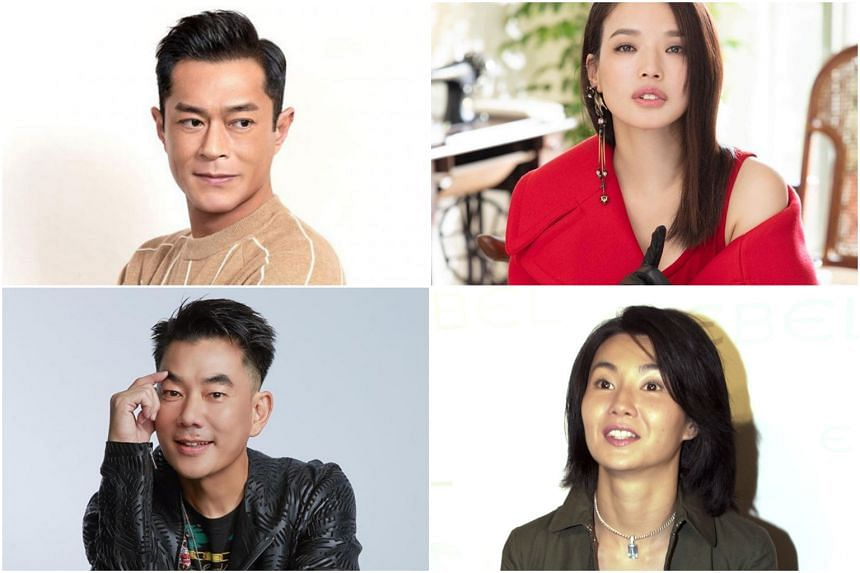 (Clockwise from top left) Louis Koo, Shu Qi, Maggie Cheung and Richie Jen are among those on the ex-flight attendant's list of top 10 list of nicest celebrities.