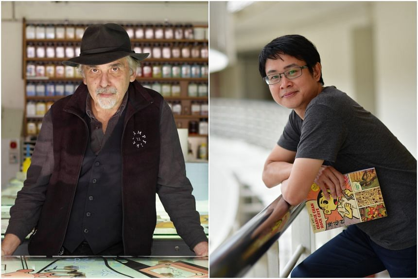 """""""Sonny Liew has much more skill than I have,"""" said Art Spiegelman (left)."""