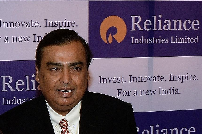 Mr Mukesh Ambani's net worth lost as much as US$5 billion (S$6.8 billion) as shares of Reliance Industries fell.