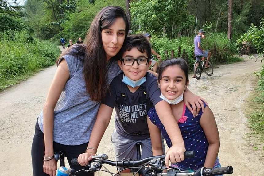 (From left) The reporter with her nephew Gavinpal Singh and niece Ethalyn Kaur on Coney Island on July 31, 2020.