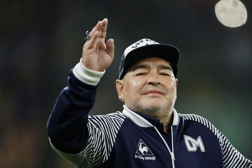 Maradona (above) was admitted to a clinic in La Plata, Argentina, suffering from anaemia and dehydration.