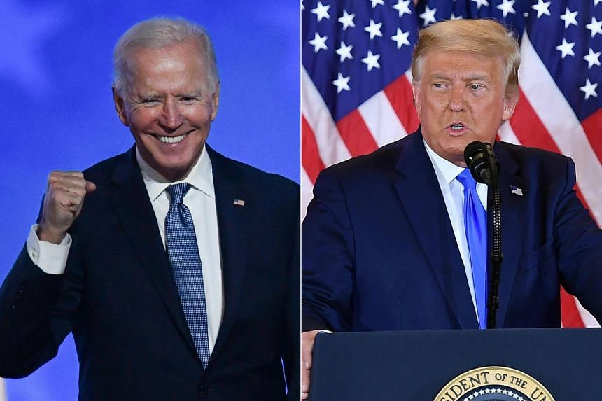 US President Donald Trump and his Democratic rival Joe Biden both still have possible paths to win the White House.