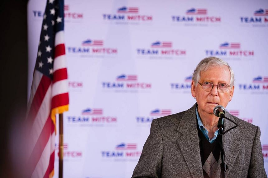 US Republican Senator Mitch McConnell had become a leading target of Democratic wrath.