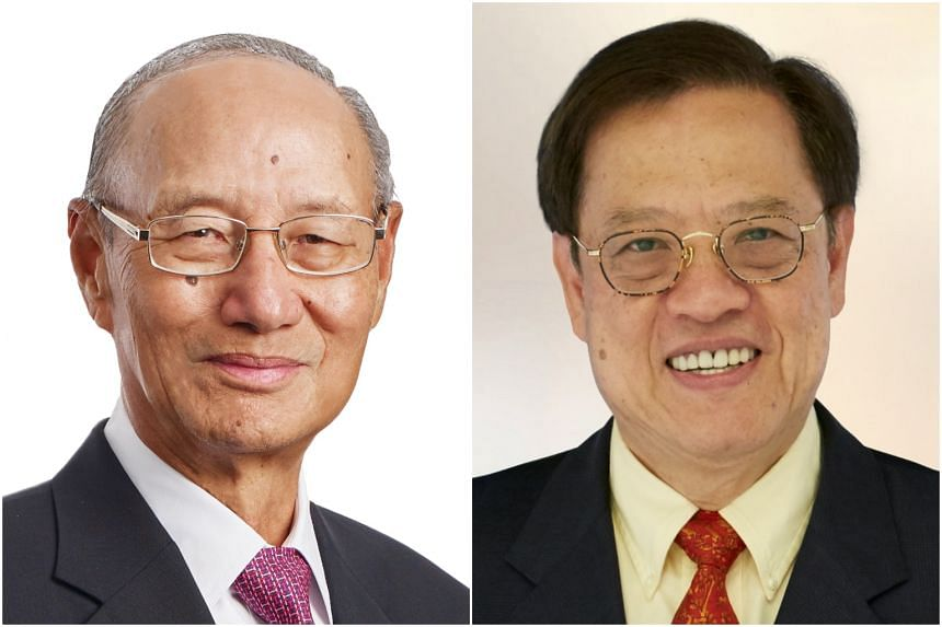 Mr Ng Kee Choe (left) will be succeeded by Mr Miguel Ko, the deputy chairman of the group.