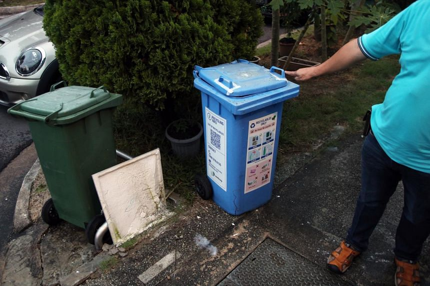 The infant was discovered in a recycling bin in Tai Keng Gardens.