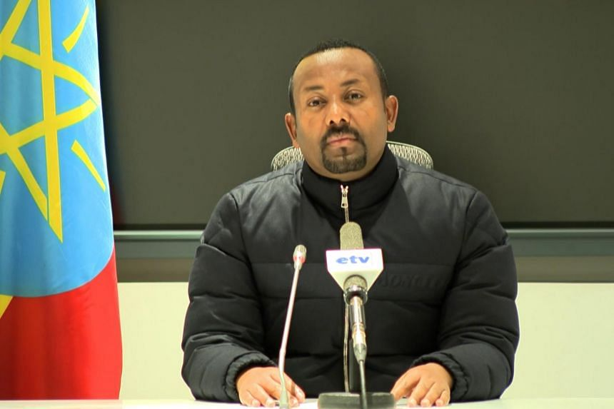Ethiopian Prime Minister Abiy Ahmed in a televised address on Nov 4, 2020.