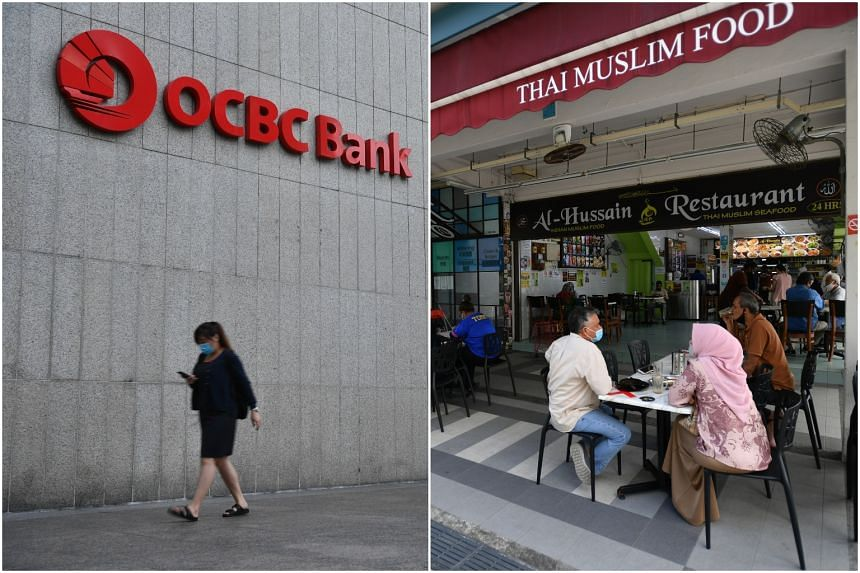 OCBC Centre in Raffles Place and Al-Hussain Restaurant at 822 Tampines Street 81 were visited by infectious Covid-19 patients.
