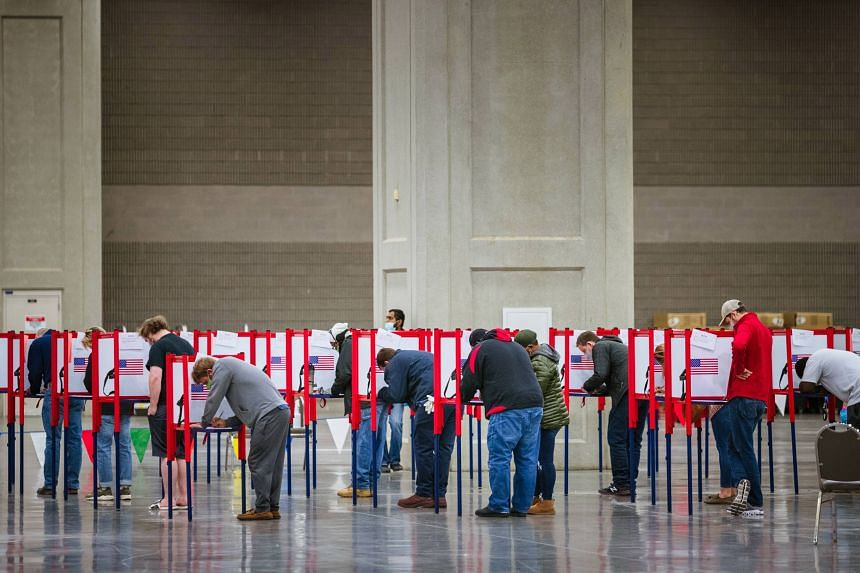 Voting concluded as scheduled on Nov 3, but many states routinely take days to finish counting ballots.