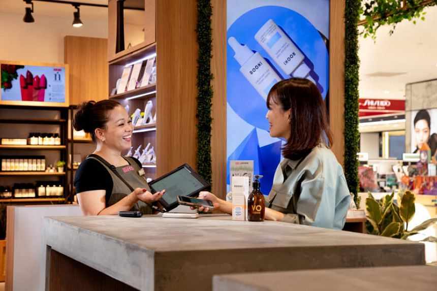 BHG Singapore added a mobile point-of-sale cashier system.