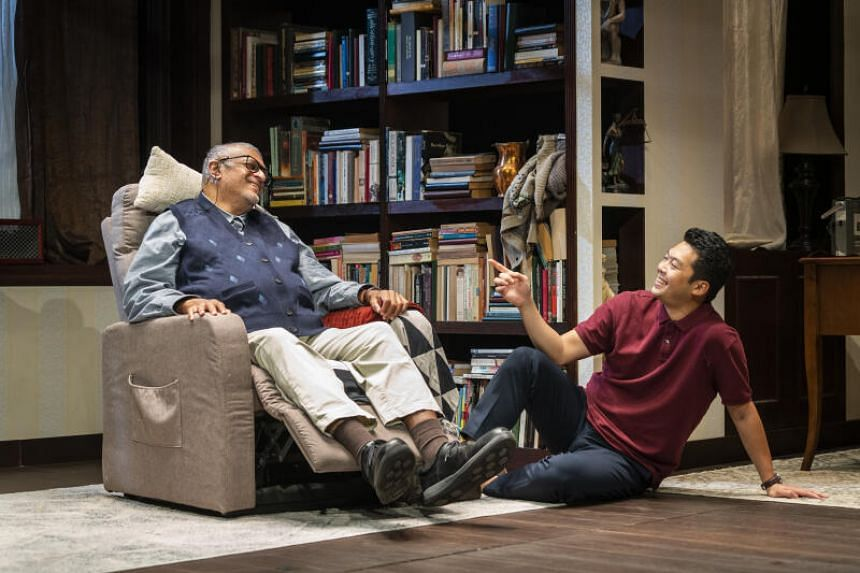 Remesh Panicker (left) and Benjamin Chow in Tuesdays With Morrie.