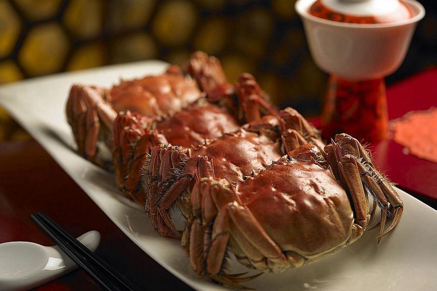 Hairy crabs at Shang Palace