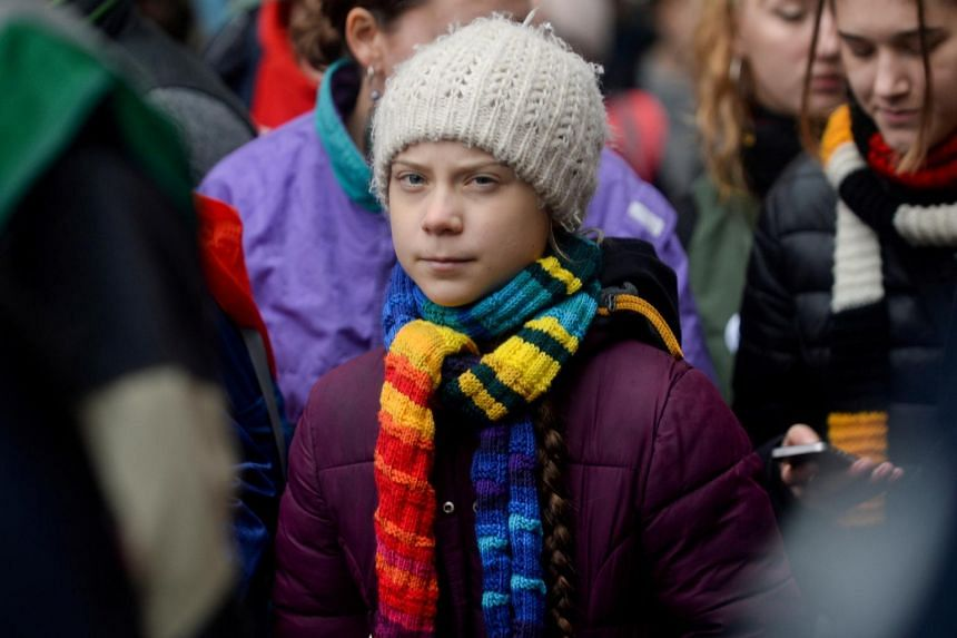 "Greta Thunberg said that US President Donald Trump should ""chill"" about the election."