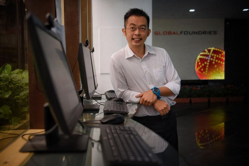 Mr Loo Fang Jing, a former sailor, is now a learning and development trainee at semiconductor manufacturer Globalfoundries.