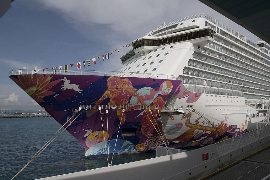 The World Dream cruise ship will set off on its three day Super Seacation cruise to nowhere.