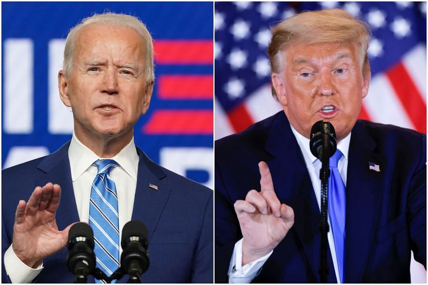 Mr Donald Trump is ahead in Georgia and Pennsylvania, but Mr Joe Biden closed in on his lead in both states throughout the day.