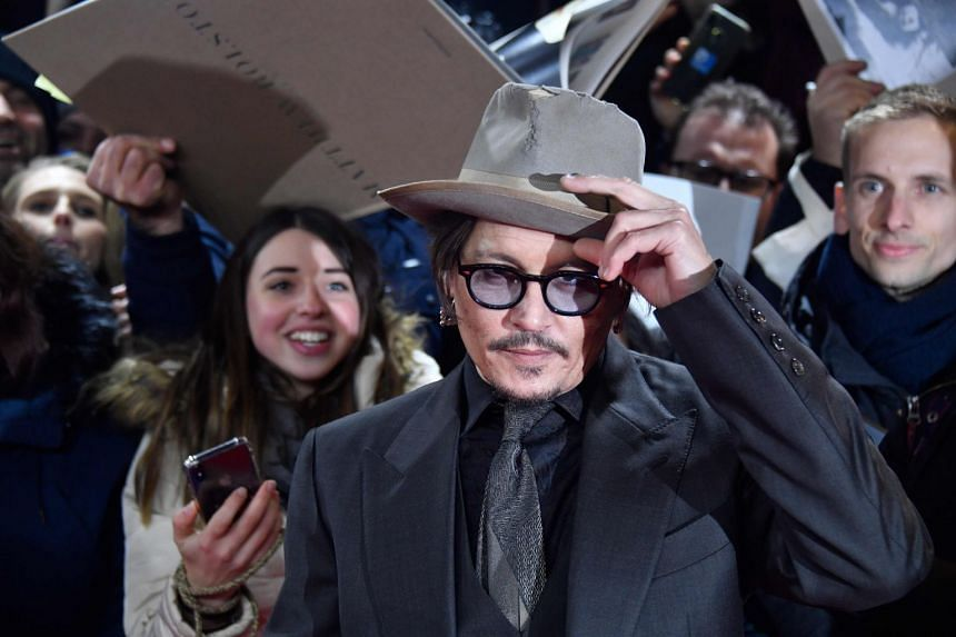 Johnny Depp is pictured at the Berlinale film festival in February 2020.