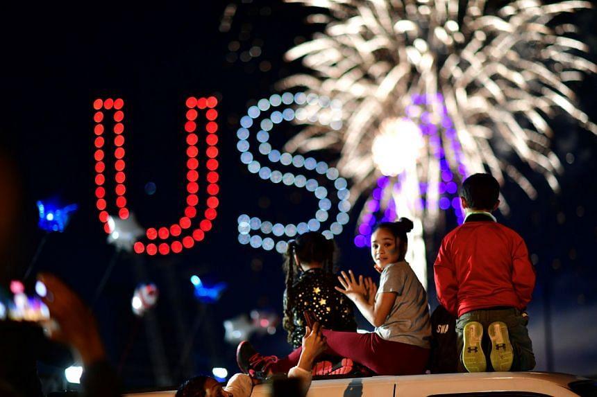 People celebrate in Wilmington, Delaware, on Nov 7, 2020.