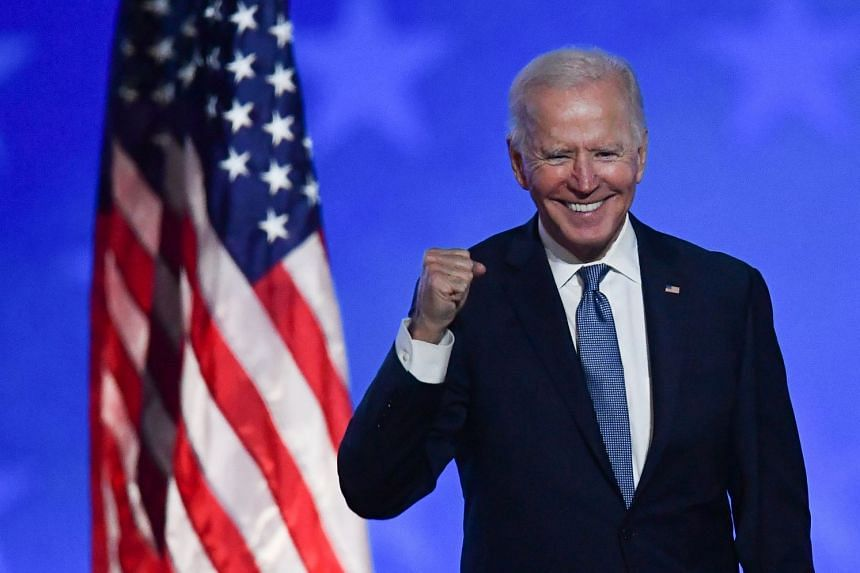 Democrat Joe Biden is to be elected 46th President of the United States after winning Pennsylvania on Nov 7, 2020.