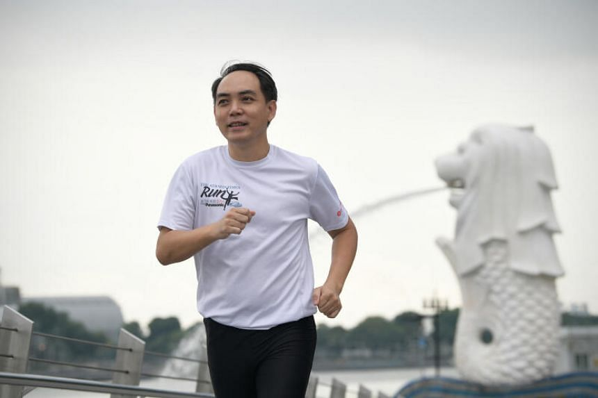 Teacher Adrian Kum has participated in the ST Run every year since 2014.