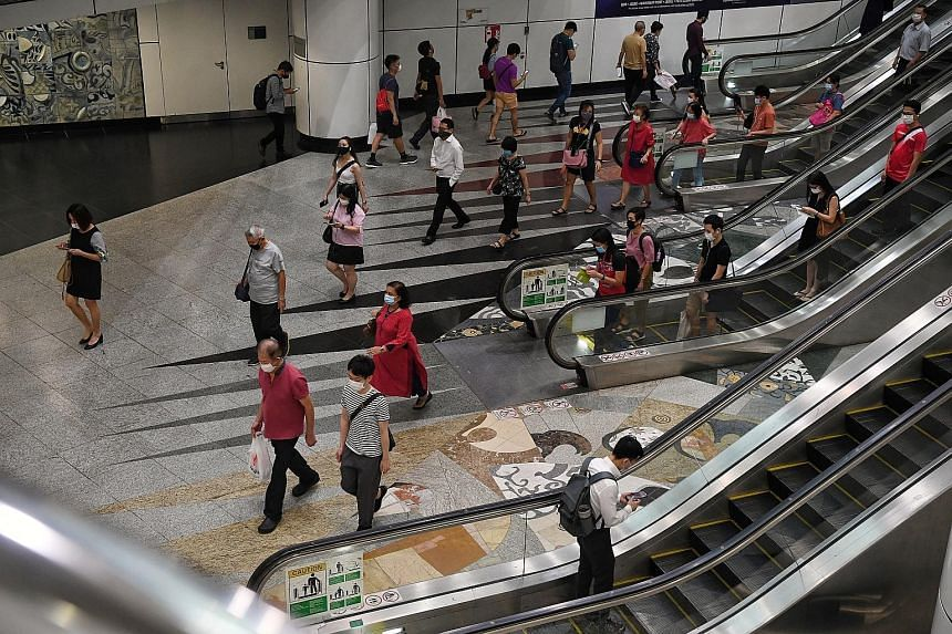 Mr Lim said that as part of his research, he focused on more complex MRT stations like Dhoby Ghaut (above), which he visited more than 20 times. Mr Samuel Lim was part of a Land Transport Authority team that redesigned MRT station signage, which is n