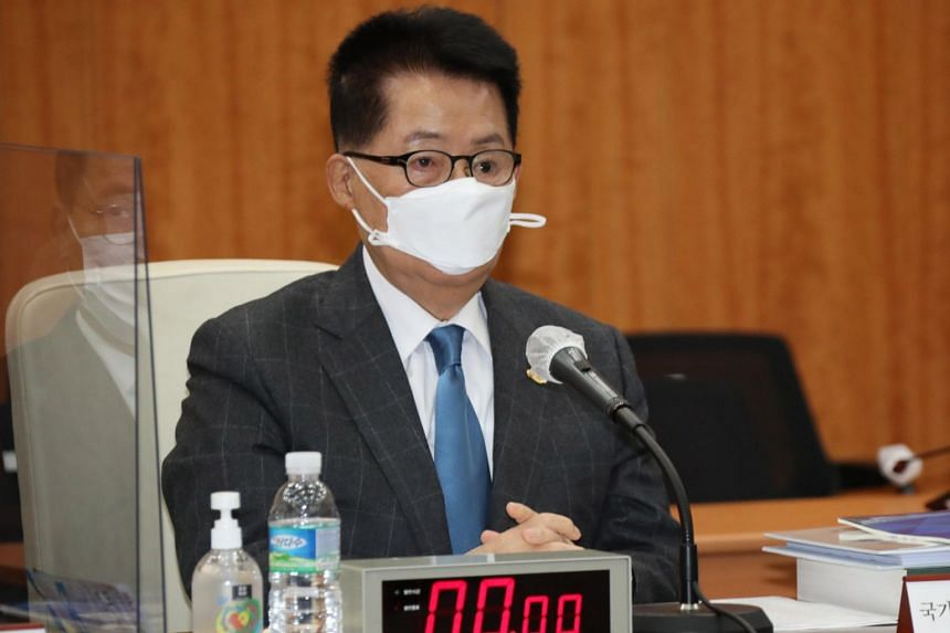 South Korea's National Intelligence Service chief  Park Jie-won arrived in Tokyo on Nov 8.