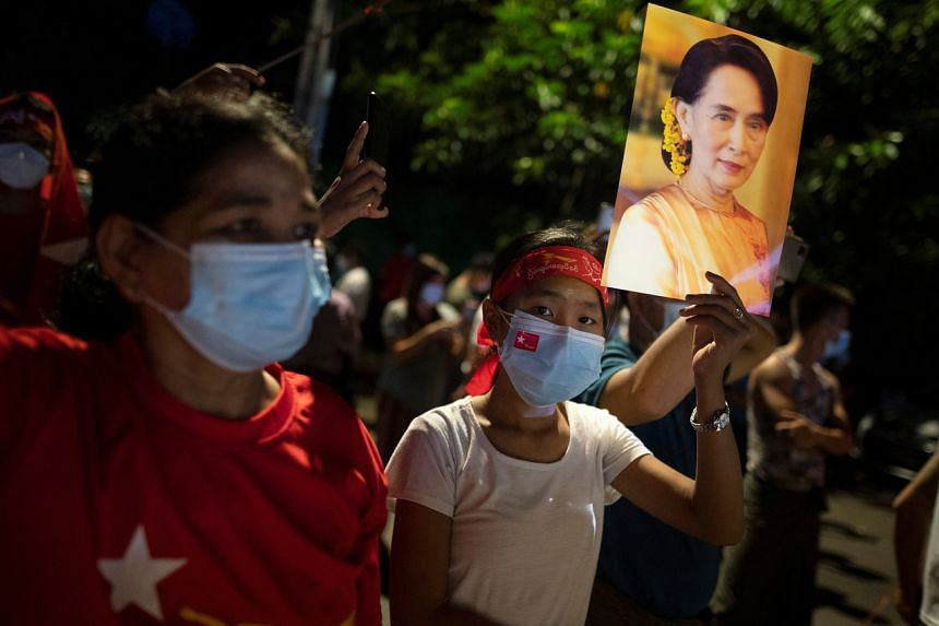 The general election was seen as a referendum on the fledgling democratic government led by Ms Aung San Suu Kyi's ruling NLD.